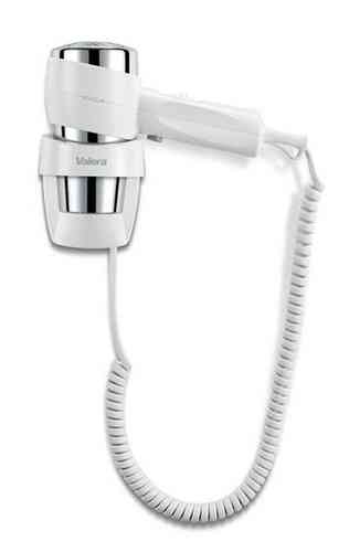 Valera Action wall mounted 1200w white/chrome PUSH BUTTON hair dryer